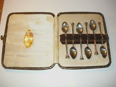 Boxed set of 6 Rodd Sterling Silver teaspoons in excellent condition
