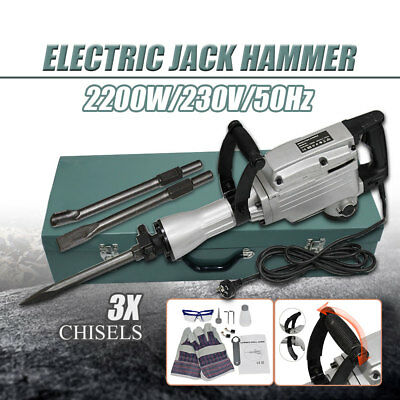 2200W Jackhammer Electric Commercial Grade Demolition Hammer Concrete Drill