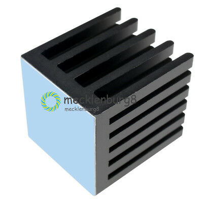 22X22X25MM IC Heat Sink Aluminum  22*22*25MM Cooling Fin 3M8810 ADHESIVE NEW