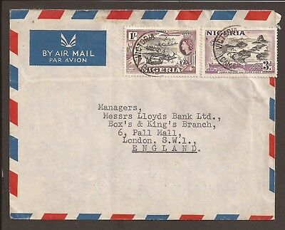 Nigeria 1954 Airmail cover. Posted from Costain (W.A.) Ltd