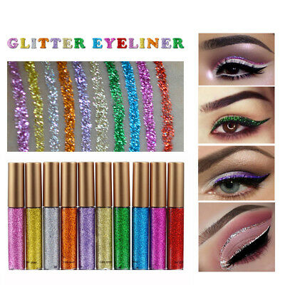 Glitter Eyeliner Liquid Eyeshadow Shimmer Waterproof Sparkling Makeup Cosmetic