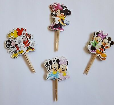 Minny Micky Maus Minnie Mickey Mouse 24Cupcake Muffin Kuchen Toppers Käse-Picks