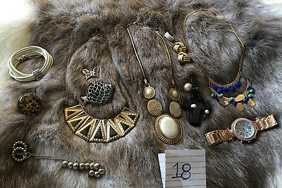 Gold Silver Toned Jewellery And Watch Bulk Lot 18 - Deceased Estate