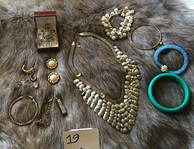 Gold Silver Toned Jewellery And Watch Bulk Lot 19 - Deceased Estate