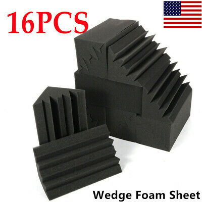 16x Corner Bass Soundproof Acoustic Noise Trap Studio Foam Sponge Sound Panel US