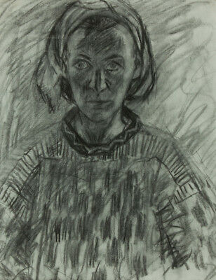 Mark Ivan Clark - Contemporary Charcoal Drawing, Portrait of Woman