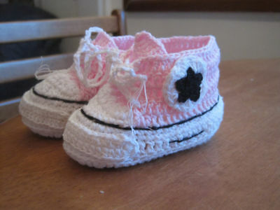 Baby Shoes/Crochet/ Pink 9cm