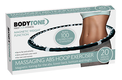 Professional Fitness Weighted Magnetic Hula Hoop Workout Massage Abs Exercise