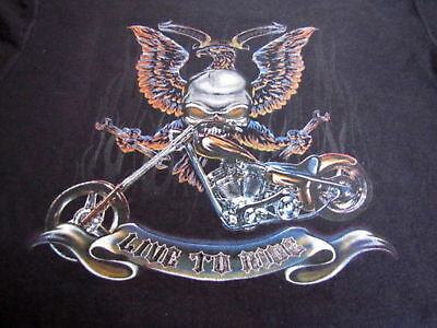 ❤️❤️❤️ Motor Cycle Choppers Live To Ride Chopper L/s T-Shirt Child Small