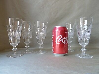 6 Antique Edinburgh & Leith  Crystal Champagne Glasses Flutes