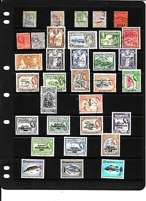 British Guiana Stamps selection
