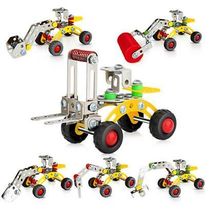 1x Metal DIY Kid Toy Assembly Model Kit Building Blocks Construction Vehicle HOT