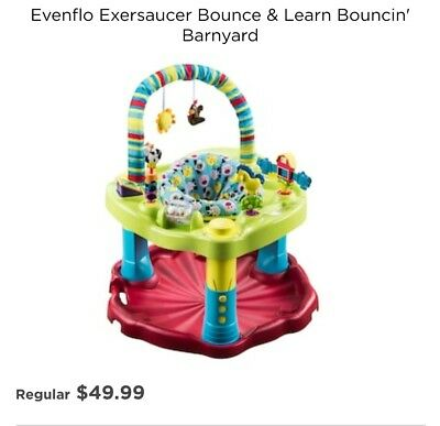 Evenflo Activity Centers Exersaucer Bounce and Learn Barnyard
