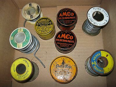 Vintage Lot Of Plumbing Soldier And Paste