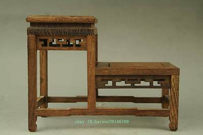 new suan-zhi wood rosewood China high-low style stand display shelf c01