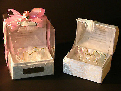 Christening or new baby girl personalised gift guardian angels in poem box CD10