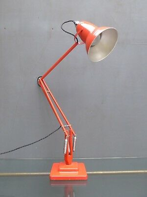 1950's Vintage Industrial Herbert Terry Anglepoise 1227 Desk Lamp In Red