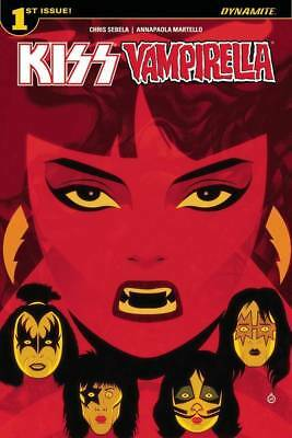 KISS / VAMPIRELLA Comic #1 JUNE 2017 Dynamite COVER A Art By JUAN DOE!