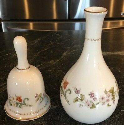 Wedgwood Bone China Mirabelle Bell And Small Vase 1000 Picclick
