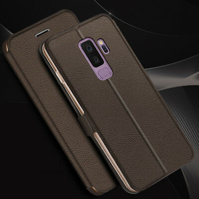 For Samsung A8+ 2018 S9+ A5 A7 Luxury Flip Leather Wallet Magnetic Case Cover
