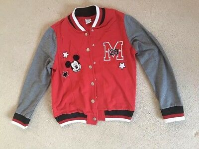 Disney Varsity Jacket Size 12 Featuring Mickey Mouse