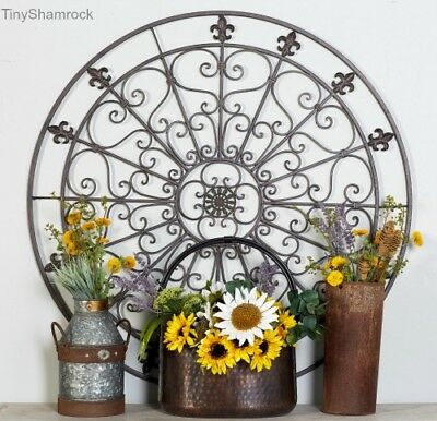Large Wall Decor 42 Outdoor Iron French Country Fleur De