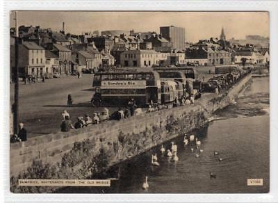WHITESANDS FROM THE OLD BRIDGE, DUMFRIES: Dumfriesshire postcard (C32812)
