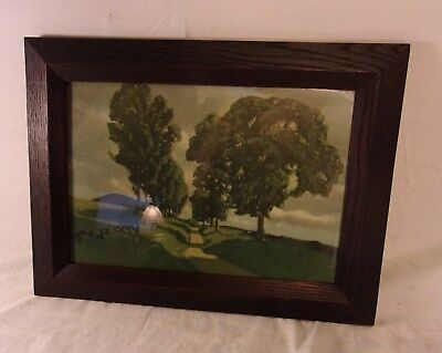 """Antique arts and crafts OAK frame 12 x 16 1/4  holds 9x13  molding 1 3/4""""."""