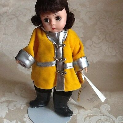 """MADAME ALEXANDER """"FIRE FIGHTER"""" WENDY  8"""" poseable DOLL GUC DISPAYED ONLY"""