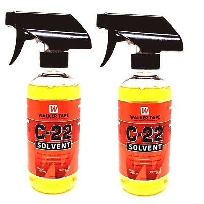 2 X C22 Solvent Adhesive Tape Glue Remover Hair Extension Lace Wig Toupee 12oz