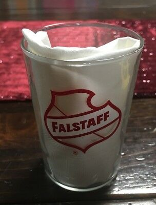 Vintage Small Falstaff Beer Glass 3 1/2 inches high New Orleans Beer Free Ship