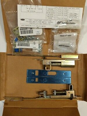 IVES Latching Automatic FLUSH BOLT FB51P-12-MD US32D 10120 Metal Door