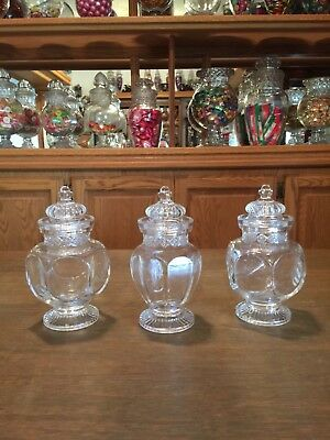 VINTAGE Apothecary ginger or candy jar set of 3