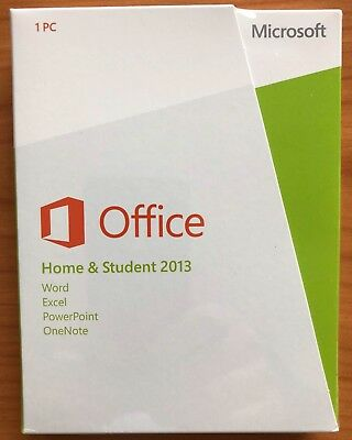 MS Office Home and Student 2013 32/64 Bit - FPP BOX SB (PKC) EUROZONE
