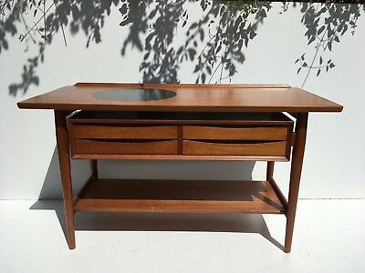 Authentic 1960s Danish Teak Credenza Console by Arne Vodder Sideboard Server