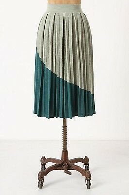 86a4758bef New ANTHROPOLOGIE Pleated Divvied Colorblock Skirt Size 4 Fits Like Size 0  $168