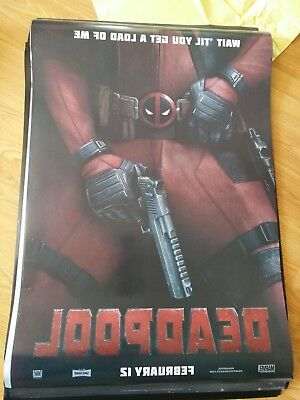 DEADPOOL Original Movie Poster 2 sided Double Sided  DS 27X40 MARVEL theatric