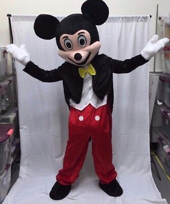 Mickey Mouse Mascot Costume Disney Halloween Party Adult Size Birthday Boy USA