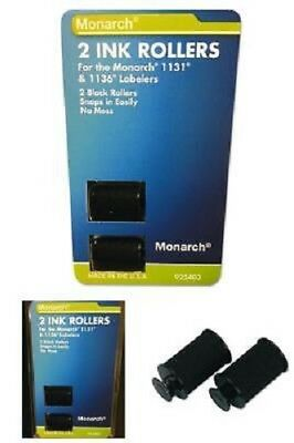 Monarch Replacement Ink Rollers for 1131/1136 Pricing Labelers Black 2 per pack