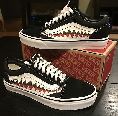f0a00e62e6f CUSTOM BAPE VANS Old Skool All Sizes Bape Shark (Not Painted  better ...