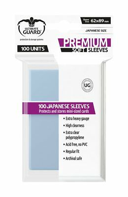 100 pochettes Premium Soft Sleeves format small Transparent Ultimate Guard