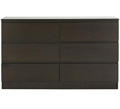 NEW Como Dresser Black Brown By Fantastic Furniture