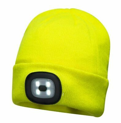 *** NEW Portwest Rechargeable LED Beanie Hat B029 *** NEW