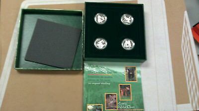 1996 50¢ Sterling Four Coin Set: Little Wild Ones Box set