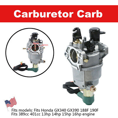 Carburetor with Solenoid For Honda GX390 188F Generator 13HP Engine Carb