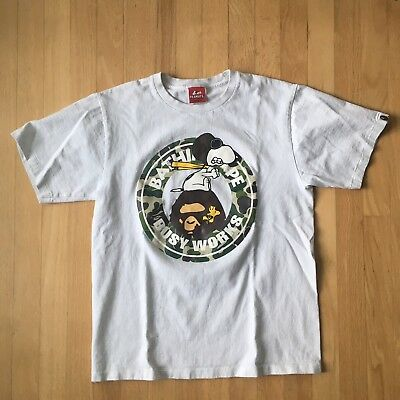 4bead38c A BATHING APE Peanuts T Shirt Bape Mens Small Made In Japan Snoopy ...