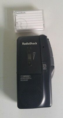 RadioShack 2 Speed Microcassette Recorder With 1 Tape , Model 14-1148