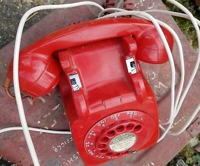Vintage red dial telephone, 706L, Series 65/2A