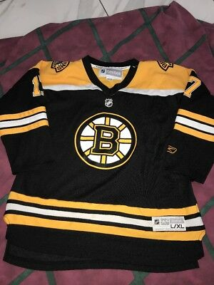 270e20fc0 Boston Bruins Milan Lucic Reebok Hockey Jersey Youth L XL Pro Team Edition