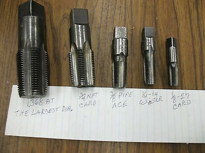 LOT OF 5  Pipe TAPS SEE PICTURES FOR MORE INF>